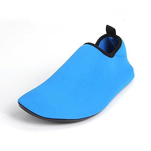 Neeiors unisex leggero acqua pelle scarpe rapida asciugatura Aqua scarpe scarpe per spiaggia piscina acqua sport, yoga esercizio Blue
