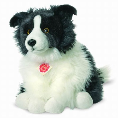 Hermann Teddy Collection 927716 - Plüsch-Border Collie sitzend, 30 cm