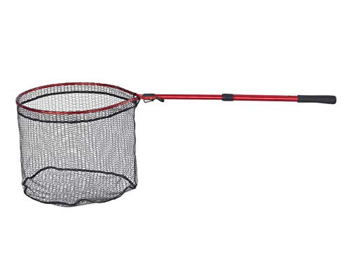verstellbar bis 3,3m gummiertes Netz Balzer Alu Kescher 3-teilig Metallgelenk