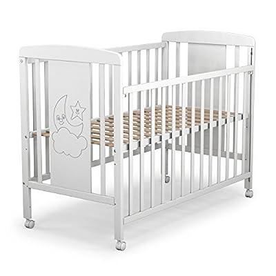 Cuna para bebé, modelo cielo + Colchón Viscoelástica + Protector impermeable de colchón para bebés BaByBed