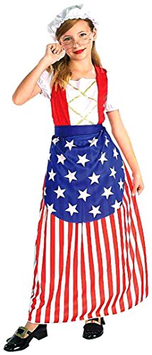 Kostüm Patriotische Kinder - Forum Novelties Patriotische Party Betsy Ross Kostüm, Kind Medium