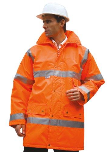 Sicherheitsjacke mit Reflexstreifen Fluoresent Orange