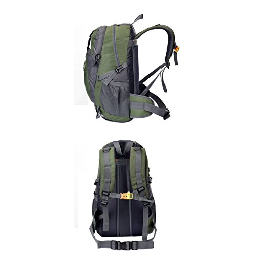 LQABW Männer Und Frauen Mountaineering Außen Wandern Schulter-Spielraum-wasserdichten Outdoor-Paar-Tasche Backpack55L ArmyGreen