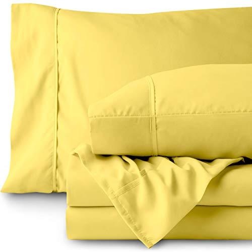 Bare Home Premium Mikrofaser-Betttuch-Set Modern Twin XL Lemon Drop (Twin Sheet Set Lange)