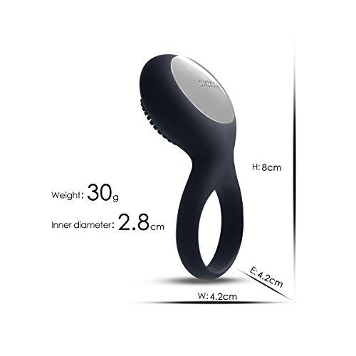 Sexspielzeug vo SVAKOM Vibrator Ring mit Klitorisstimulator, Untertauschen Wasserdichter Silikon Penisring mit Vibration, Wiederaufladbarer vibratoren für Männer und Paar - 2