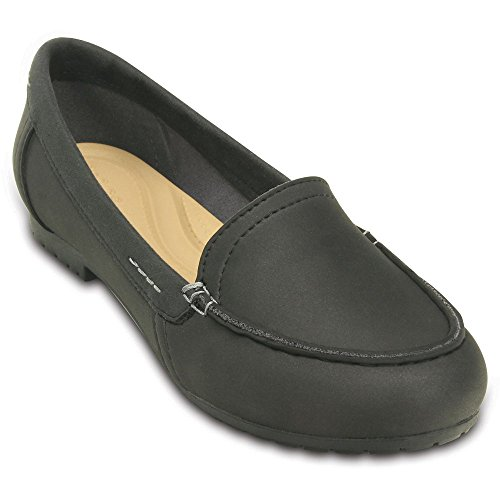 Crocs Marin ColorLite Loafer Women Black 38EU (Marine-blau-leder-loafer)