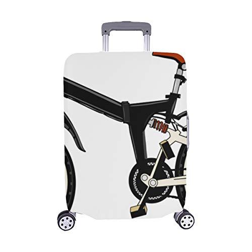 Spandex-rennen (Handgemaltes Fahrradmuster Spandex-Trolley-Koffer Reisegepäck-Schutzkoffer-Abdeckung 28,5 X 20,5 Zoll)