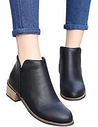 Longra☛☛❤❤ Las Mujeres más Populares Boots Botines Scrub Thick ...