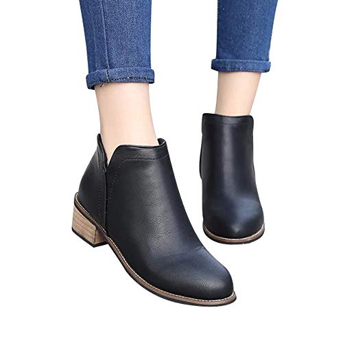 ABsoar Stiefel Damen Herbst Schuhe Freizeitschuhe Mode Frauen Martin Stiefel Britischen Stil Stiefeletten Scrub Starke Heel Lady Stiefel