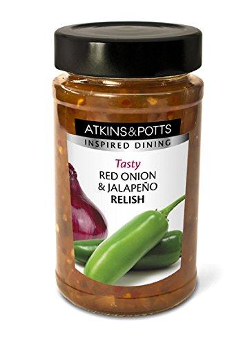 Atkins & Potts - Red Onion and Jalapeño Relish - 250g - Jalapeno Relish