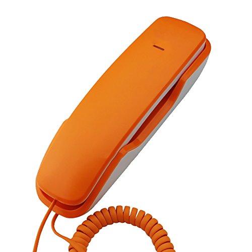 Telefono con filo, colore: arancione