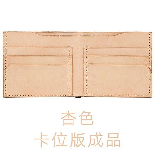 HOOM-Homme sac à main en cuir fait main bricolage créatif wallet purse,couleur kaki b Khaki c