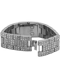 D&G Dolce&Gabbana D&G C'Est Chic - Reloj analógico de mujer de cuarzo con correa de acero inoxidable plateada - sumergible a 30 metros