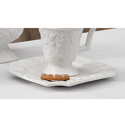 Lene Bjerre Dish Pleasure Store Bateau Collection. White 18 x 18 cm