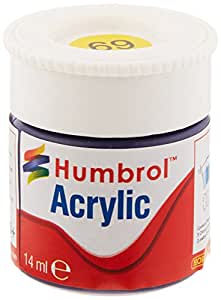 Humbrol AB0069 n° 69 JAUNE GLOSS 12ML ACRYLIQUE
