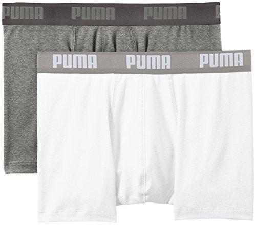 Puma - 521015001, boxer da uomo, 2 pezzi, grigio (white/grey mélange), x-large (taglia produttore: 40)