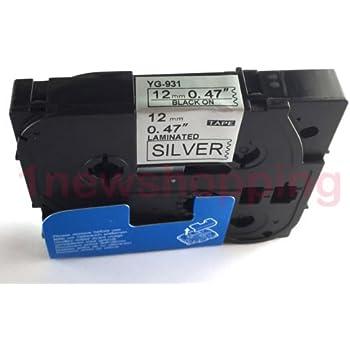 2 Schriftbänder kompatibel zu Brother P-Touch TZE-M911 6mm Schwarz Matt Silber