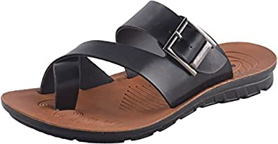 SFAREK Men's Multi-Coloured PU Sandals (10 UK)