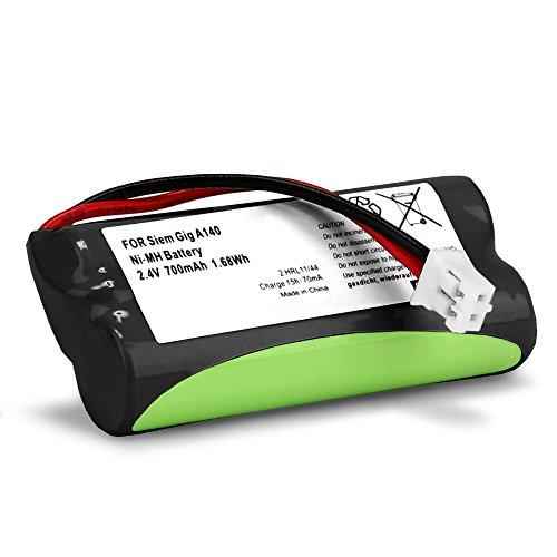 subtel Batería premium para Siemens Gigaset A120 A14 A140 A145 A160 A165 A245 A240 A260 A265, Universum CL15 SL15 (700mAh) V30145-K1310-X383,V30145-K1310-X359 bateria de repuesto, pila reemplazo, sustitución