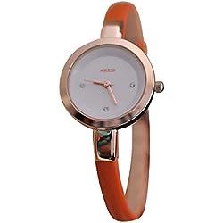 Kezzi Damen Armbanduhr Smart Analog Quarz orange / rosegold jw360