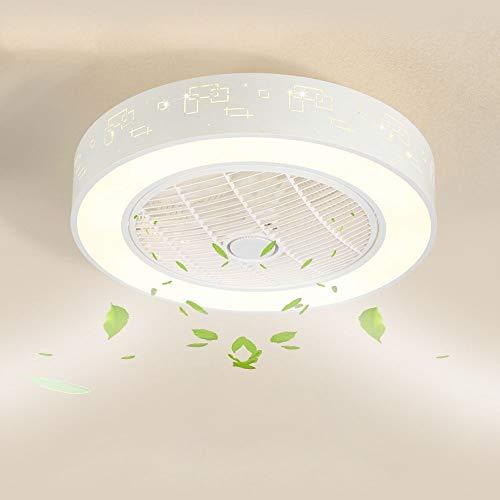 SJUN Ventiladores de techo con lámpara LED Luz de techo Moderno ventilador...