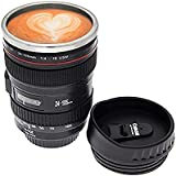 BLISS Camera Lens Coffee Mug With Cookie Holder Thermos Stainless Steel Cup Mug Flask Best For Office And Home.