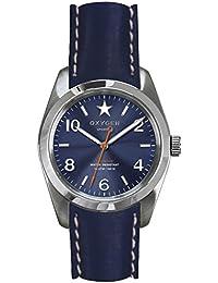 University Sports Press EX-S-BOS-38-CL-NA - Reloj de cuarzo unisex, correa de cuero color azul