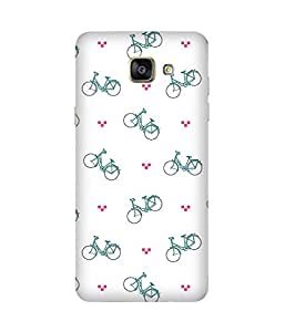 Bicycle Back Cover Case for Samsung Galaxy A5 2016 Edition
