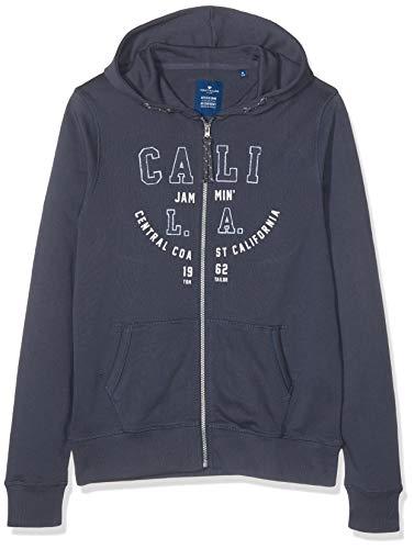 TOM TAILOR Kids Jungen Sweat Jacket Placed Print Sweatjacke, Grau (Odyssey Gray 1373), Herstellergröße: 140 -