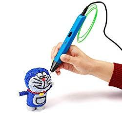 ♥Intelligent 3d Pen♥ Nexgadget 3d Printing Pen Compatible With Pla Abs Wood Filament + 3 Free 1.75mm Filament Refills, The Best Gift For Children(blue)
