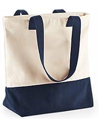 Bag-base - sac coton toile - grandes anses - cabas shopping course - sac de plage - BG683