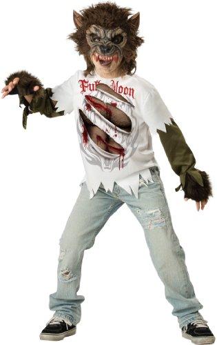 Wolfsjunge Werwolf Kostüm für Kinder - Gr. (Kostüm Handschuhe Werwolf)