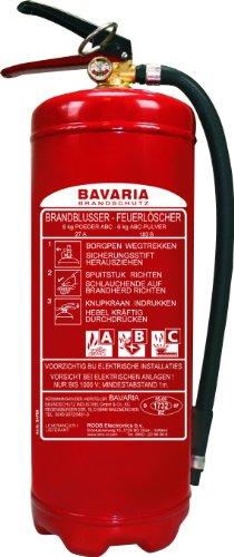 Preisvergleich Produktbild Bavaria BAPB6 Feuerlöscher / Pulverlöscher / Pulverfeuerlöscher mit Manometer, 6 Kg