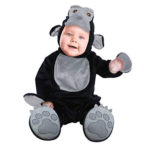 Disfraz Animal Bebe,Toddler Disfraces Halloween Carnaval Traje Orangután Ropa Pelele 3PC