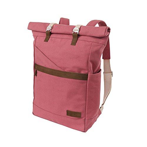 Ansvar-Rucksack-aus-Bio-Baumwoll-Canvas-Altrosa-Hochwertiger-Damen-Herren-Vintage-Tagesrucksack-aus-100-nachhaltigen-Materialien-Der-erste-Rucksack-mit-GOTS-Fairtrade-Zertifikat