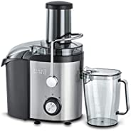 Black+Decker 800W 1.7L Stainles Steel XL Juicer Extractor with Juice Collector , Silver/Black - JE800-B5, 2 Ye