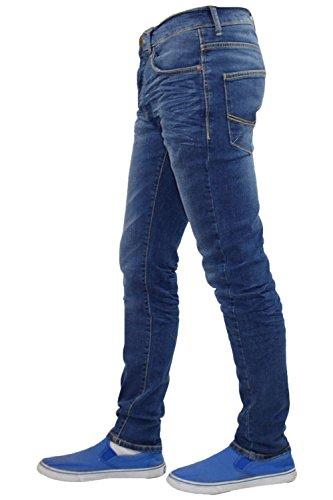 Neue Mens Designer Firetrap dehnbar Jeans-Baumwoll-Skinny Fit Denim Pants Mid Wash