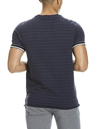 Bench Herren T-Shirt YD Stripe SS Sweat Blau (Dark Navy Blue NY031)