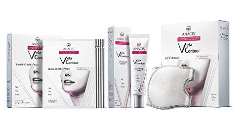 Face V-line de la barbilla hacia arriba Levante adelgaza la correa , crema cuello de línea más delgado y 5 - Máscaras para la flacidez papada