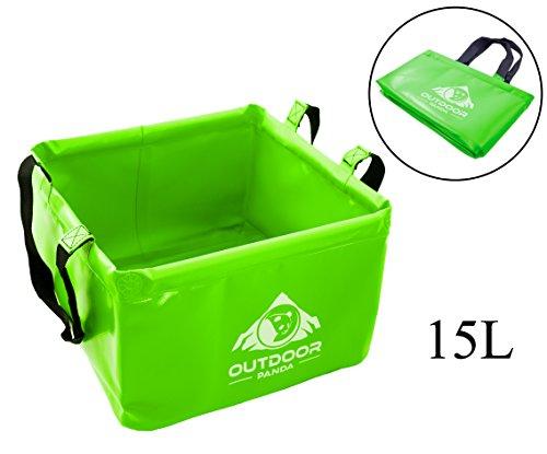 Neu Outdoor Faltschüssel 15 Liter Waschschüssel Verschiedene Farben (02 Grün)
