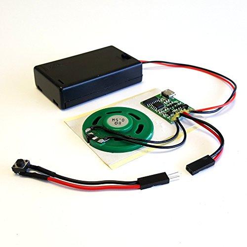 Talking Products MP3-Sound-Chip-Modul, 4 MB Speicher, mit AAA-Batteriebox Ideal für Modelle und Bastelarbeiten.