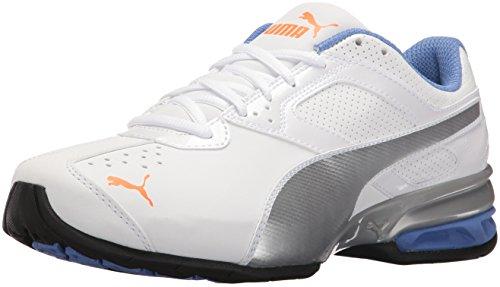 Puma Tazon 6 Synthetik Cross-Training White/Silver-Shocking Orange