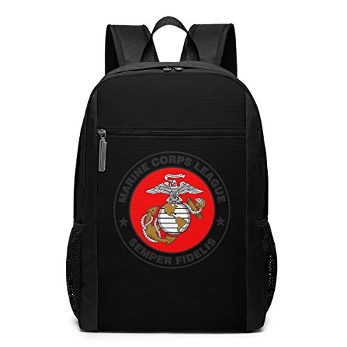 GgDupp Marine Corps League Logo School Bag Travel Backpack 17 Inch Laptop Bag -