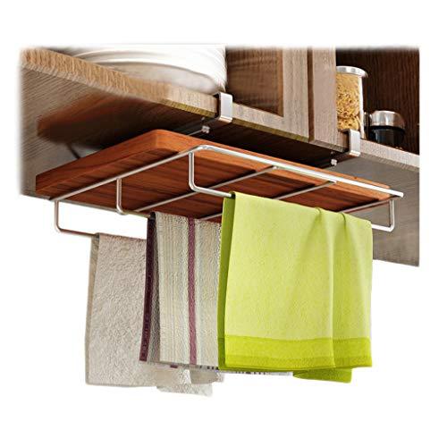 Schneidebrett Küche Rack 304 Edelstahl Abfluss Handtuchhalter Hanging Multi-Funktions-Haushalt Lagerung 29 cm * 29 cm * 11,3 cm CHENGYI -