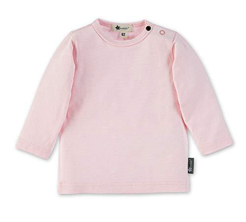 Sterntaler Langarm-Shirt mit Streifenmuster, Alter: 3-4 Monate, Größe: 56, Rosa