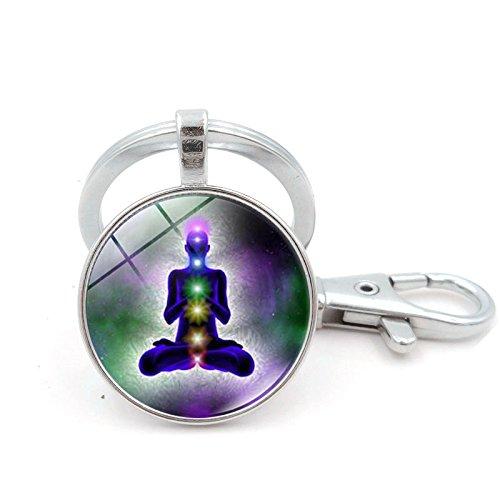 Zeit Edelstein Key Chain Yoga Meditation Anhänger Schlüsselanhänger Europa & Nordamerika Retro Zeit Edelstein, Ysk 0735