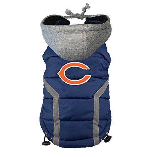 Littlearth NFL Chicago Bears Hunde-Pullover, Dark Navy/orange/White, Small