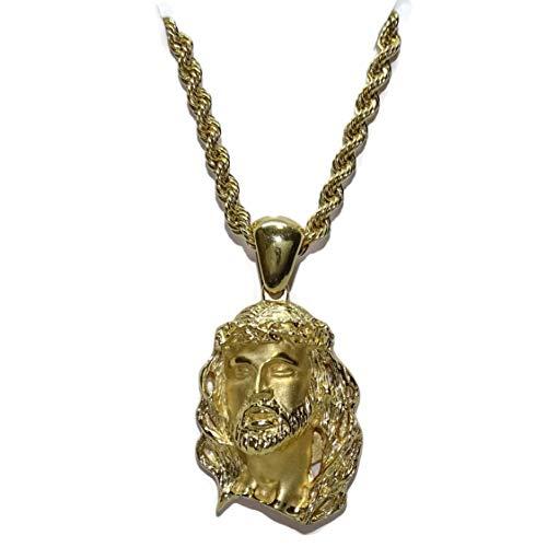 Never Say Never Cara Cristo Oro Amarillo 18k cordón