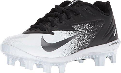 Nike Boy's Vapor Ultrafly Pro MCS Baseball Cleat Black/Metallic Silver/White Size 5.5 M US