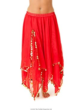 Turkish Emporium falda danza oriental (rojo dorado)